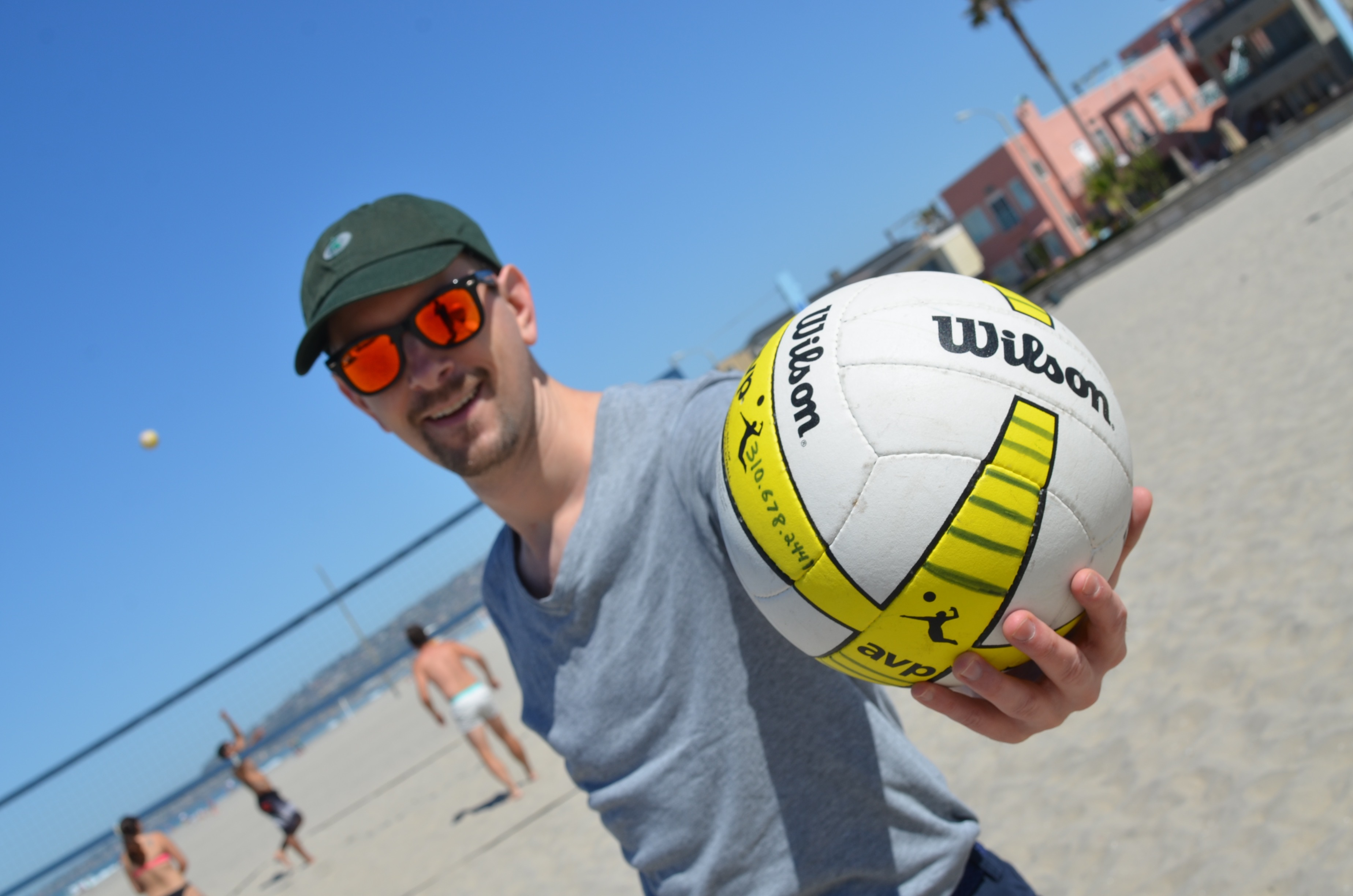Volleyball on the beach with Brent Deverman