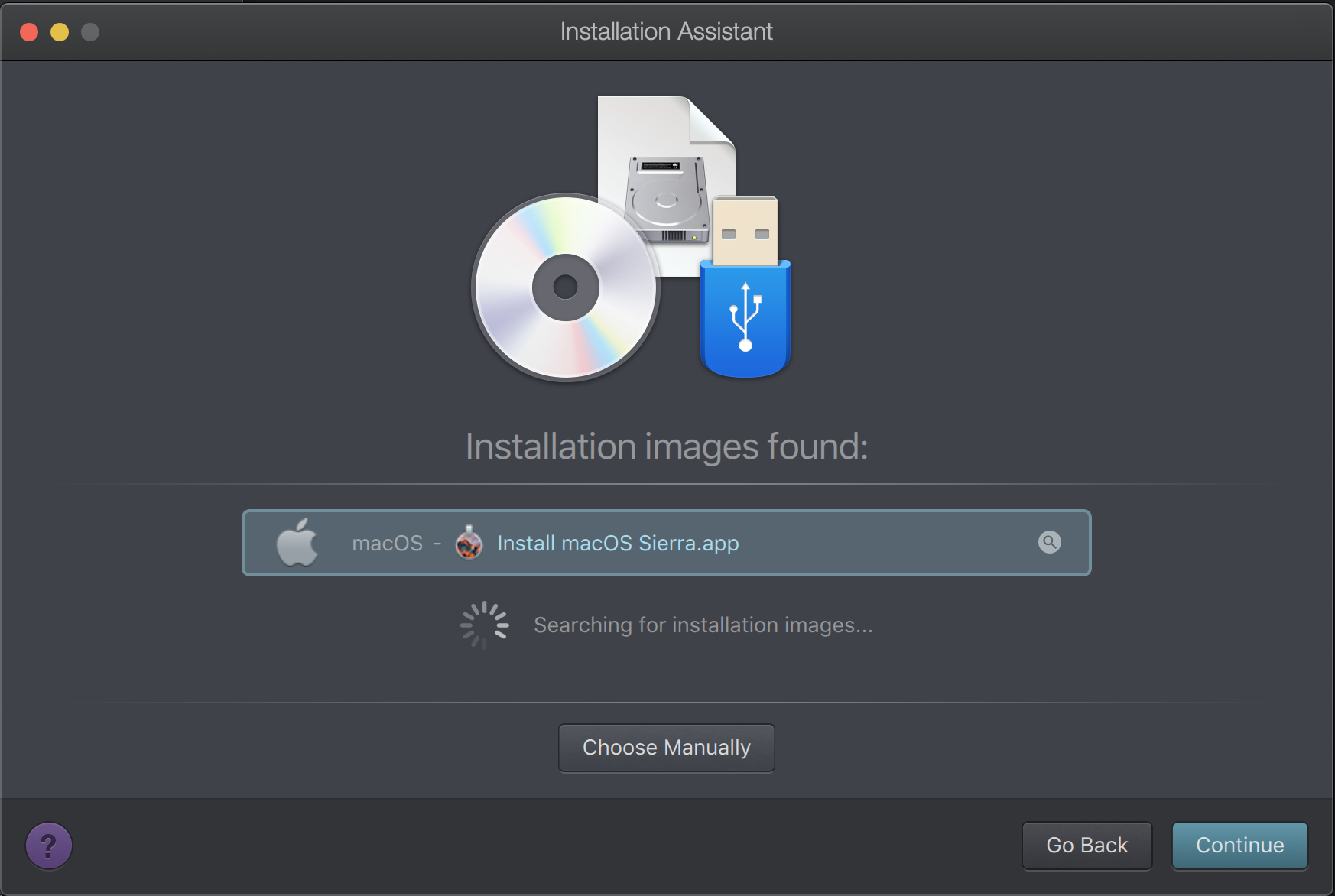 Parallels automatically recognizes the installer.